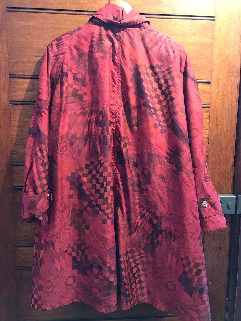 1990s Oversized Printed Rain Coat