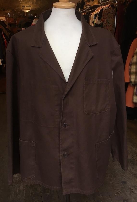 Brown Work Jacket w/ half belt
