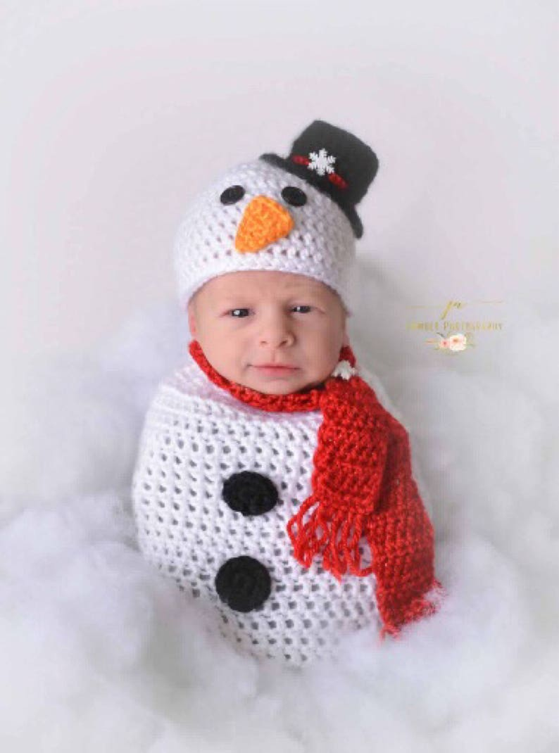 a13f4a327adc8 Newborn snowman Baby snowman sac Baby Christmas outfit
