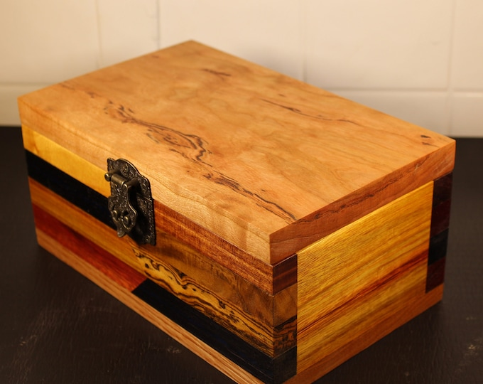 handcrafted wooden keepsake box