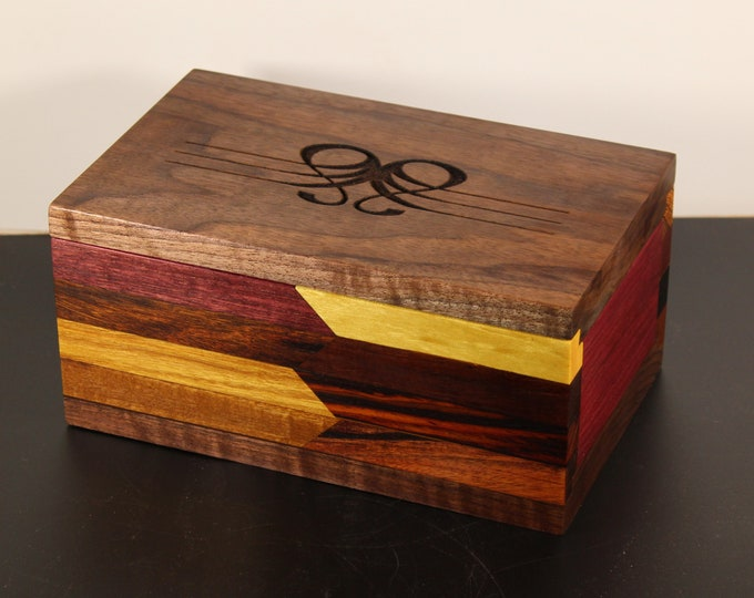 handcrafted sliding top keepsake box