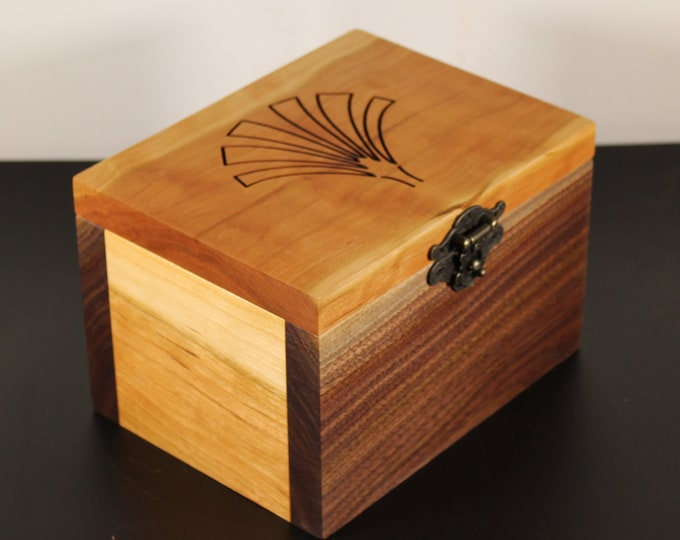 handcrafted black walnut and cherry keepsake box