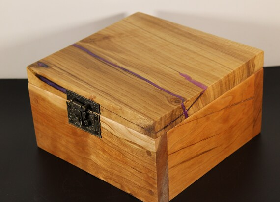 Handcrafted keepsake box with rescued wood