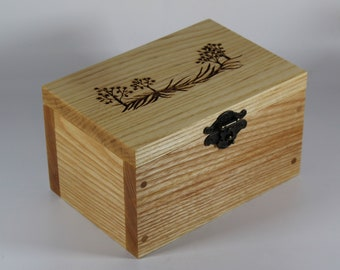 2104 Handcrafted keepsake box made with ash
