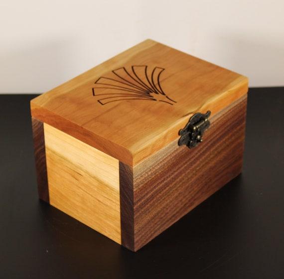 handcrafted black walnut and cherry keepsake box