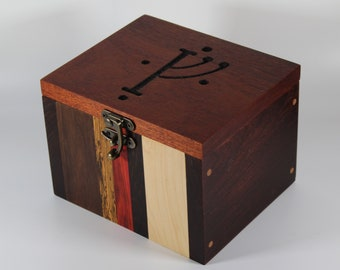 2121 Handcrafted hardwood keepsake box with engraved lid