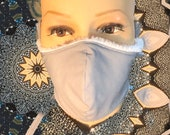 Grey fleece fitted mask