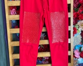 Ruby Red stretch jeans