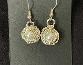 Fresh Water Pearl Nest Earrings