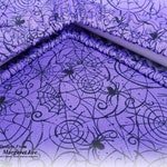 Purple Spider Web - Custom GRIME GUARD for Q-Snap, Hoop or Scroll Rod / Made to order 8x8, 11x11 inch etc / Dirt Cover / Gift for Stitcher