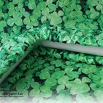 Green Clover - Custom GRIME GUARD for Q-Snap, Hoop or Scroll Rod / Made to order 8x8, 11x11 inch / Dirt Cover / Gift for Her Him Stitcher
