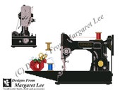 NEW Singer Featherweight Sewing Machine - Cross Stitch Pattern (INSTANT DOWNLOAD) Counted Thread Digital Pdfs