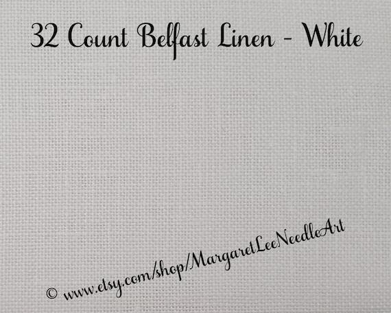 Linen Fabric 32 Ct Belfast Linen Icelandic Blue Linen Zweigart Belfast Needlework Counted Cross Stitch Cross Stitch Fabric