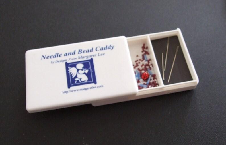 Needle and Bead Caddy  STORAGE  Needlework TOOL Box  Cross image 0