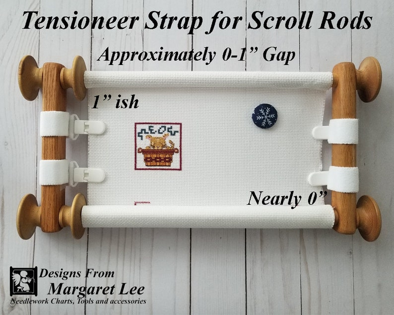 NEW Tensioneer STRAPS™ for Scroll Rod Side Bars  FULLY image 0