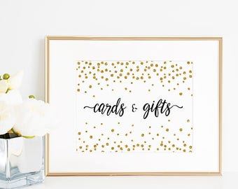 Cards & Gifts Sign -  8x10 Wedding sign -  Instant Download