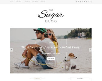 Sugar - Clean & Minimal Responsive Wordpress Theme