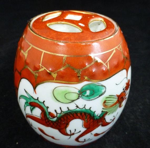 China old antique Hand painting Dragon /& Phoenix Porcelain lid jar pot