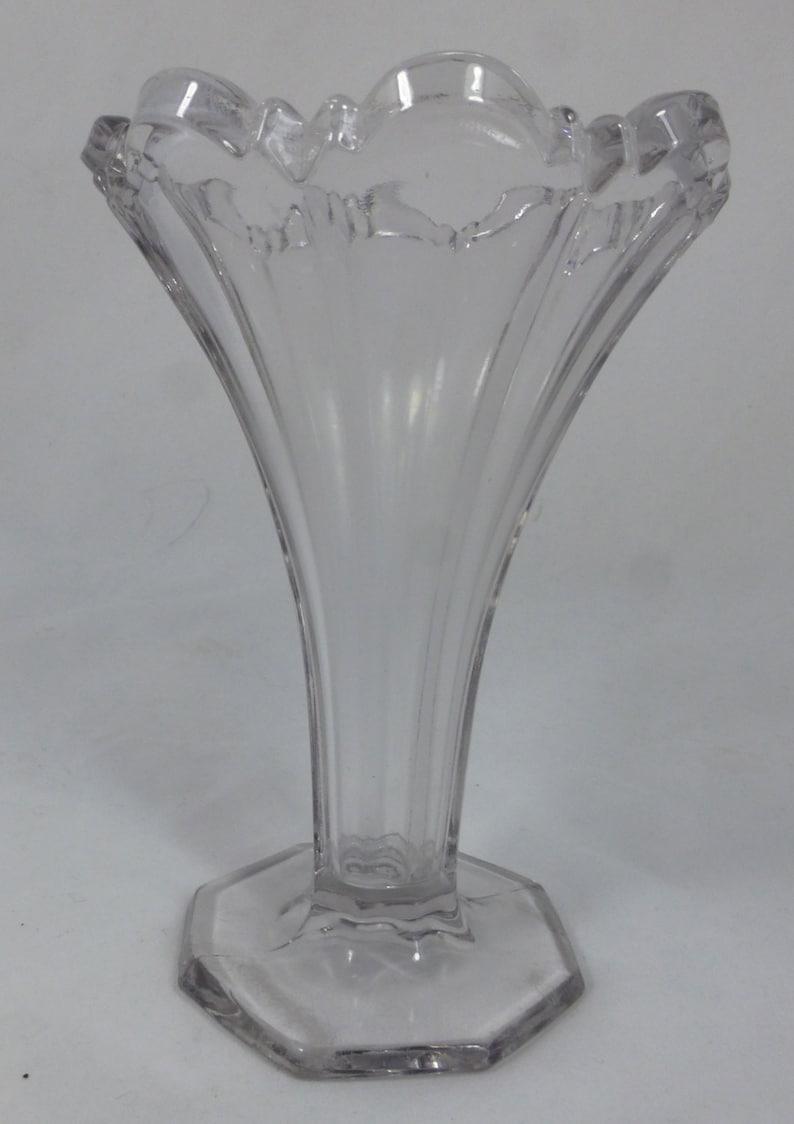 sowerby? Pressed Glass Diamond Cut Plates Vintage Art Deco