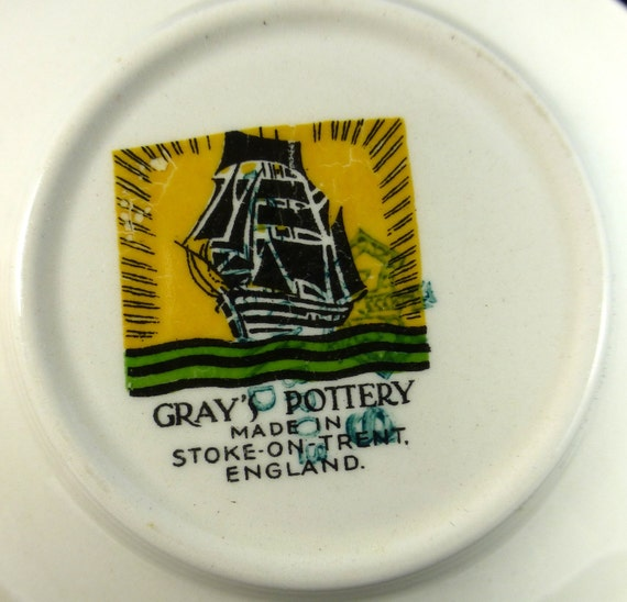Poole poterie Pot de sucre, signé KW, dauphin Poole ateliers I La thaïlande expat dating datant poole poterie.