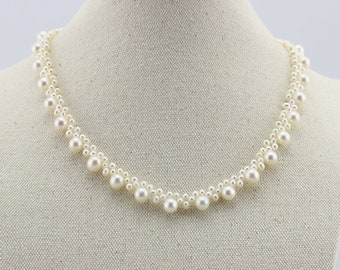 Multi-shaped Freshwater Pearl S925 necklace