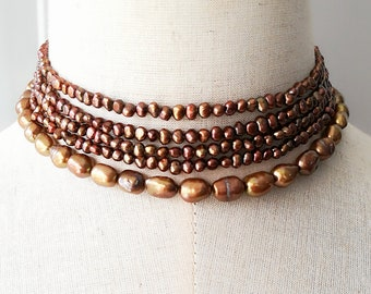 Chocolate Freshwater Pearl S925 Necklace