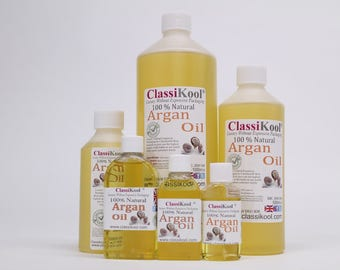 Classikool Moroccan Argan Oil: 100% Pure Natural for Beauty Skin, Nails & Hair Care (Free UK Mainland Shipping)
