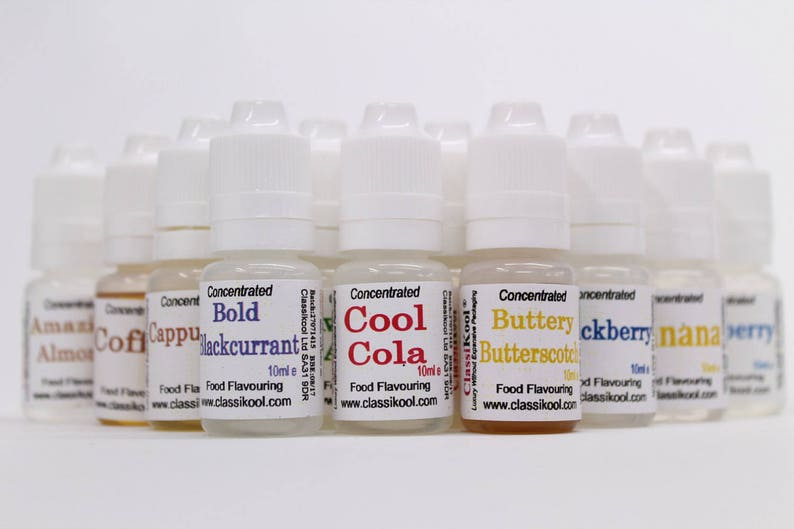 Classikool Food Flavouring 10ml *Themed Sets* Professional Concentrated  Strength: Choice of 20 Sets (Free UK Mainland Postage)