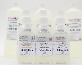 Classikool Gentle Bubble Bath Base: 13 Natural Enriched Essential Oil Choices (Free UK Mainland Postage)