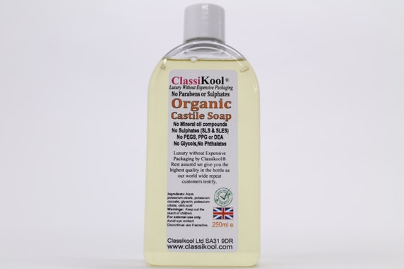 Classikool [Liquid Castile Soap] Organic & Fragrance-Free (Free UK Mainland  Shipping)