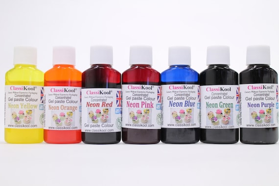 Classikool 30ml Neon Gel Food Colouring for Sugarpaste Icing   Etsy