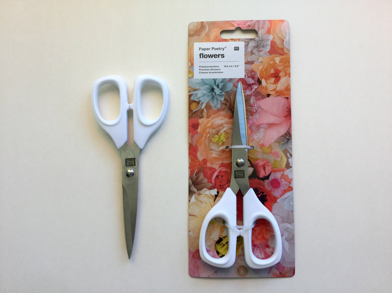 Ciseaux de précision pour pour précision travailler avec papier - «Blanc», sans rouille acier inoxydable avec tranchant fc1ed3