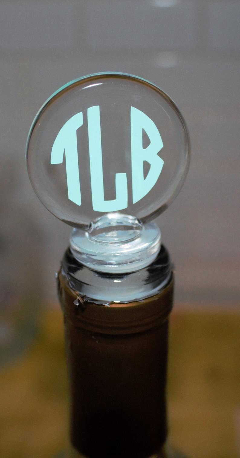 Custom Monogram Initial Wine Bottle Stopper