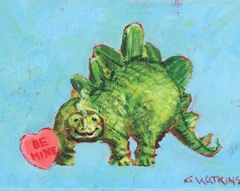Be Mine- Matted print of an original acrylic painting by Greta Watkins