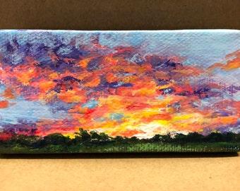 Sunset- An original acrylic painting