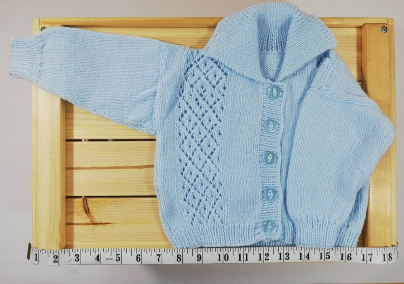 Pale Blue Cardigan 6-9 months