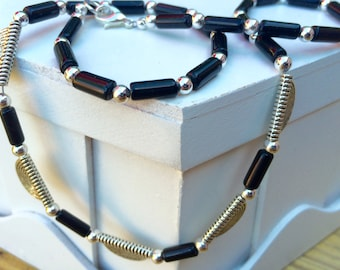 Black Agate Casual Necklace