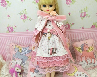 Doll dress for Blythe/ Neemo S/ Takara/ pullip/ Azone and licca