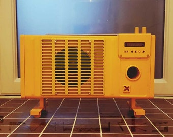 "Active speaker ""yello ..."" with FM radio / accumulator / bluetooth /"