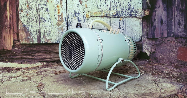Active speaker cyan with bluetooth antique heater UPCYCLING image 0