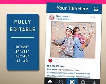 Instagram Frame Prop Etsy