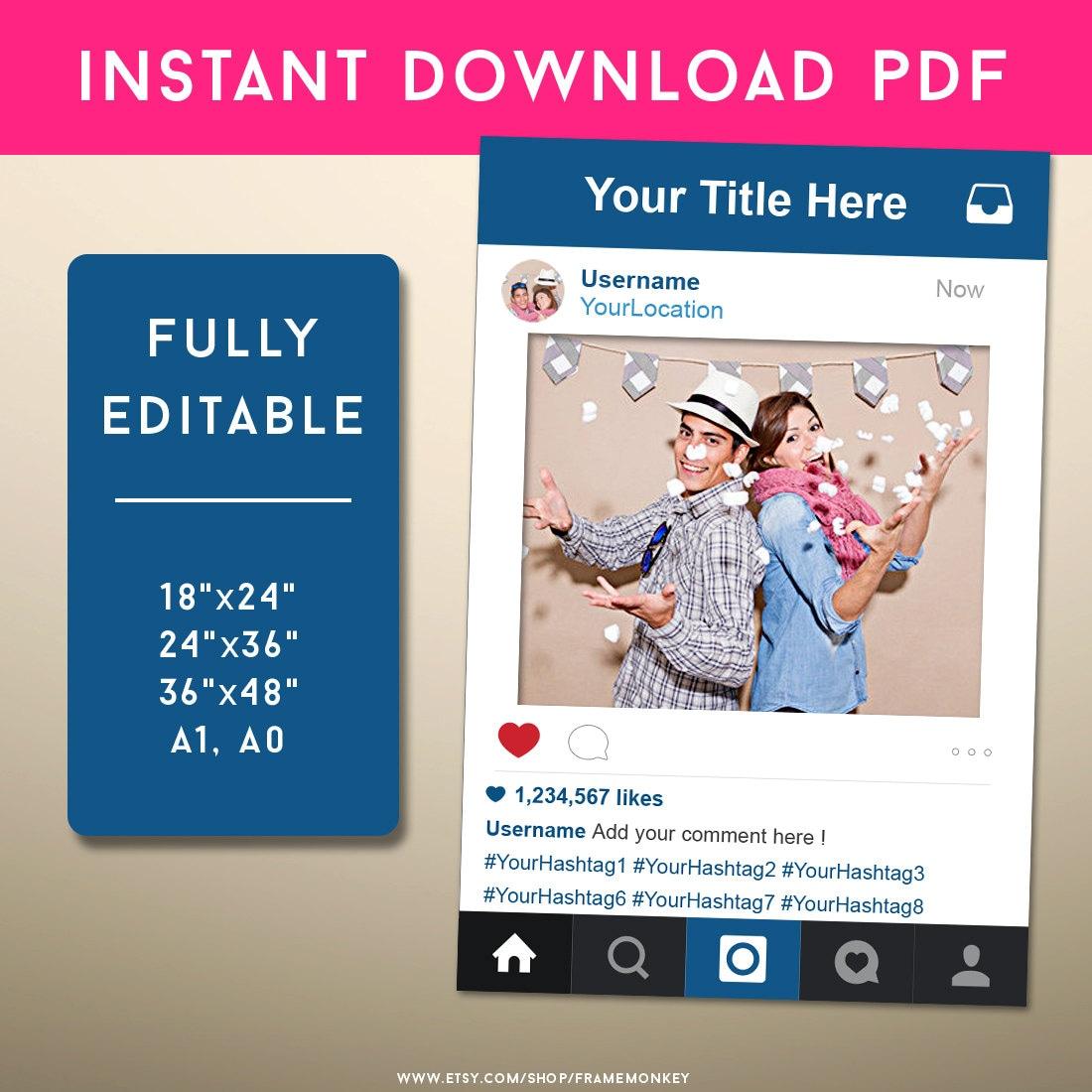 Instagram Zeichen Social-Media-Foto-Prop Hochzeit Zeichen   Etsy