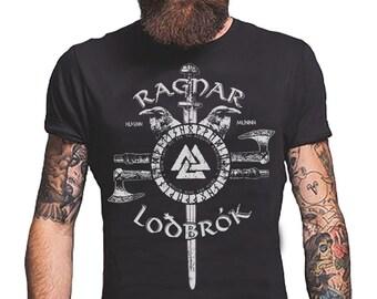 8bd20b79 Ragnar Lodbrok Viking T-Shirt Odin Norse God Men's T-Shirts