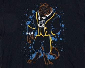 Prince Beast Ink Effect Disney Inspired Unisex Adults /& Kids Gift T-Shirt