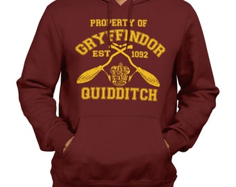 Property Of Gryffindor Quidditch Team Hooded SweatShirt Jumper Harry Potter Hogwarts Support Retail Quality