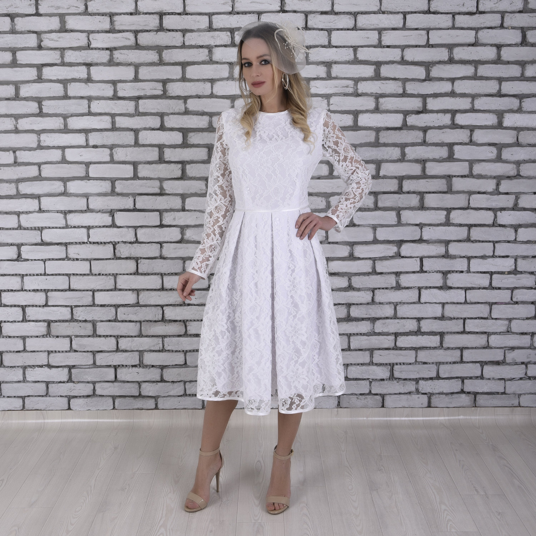 Kurzes Brautkleid schlichtes Brautkleid bescheidene
