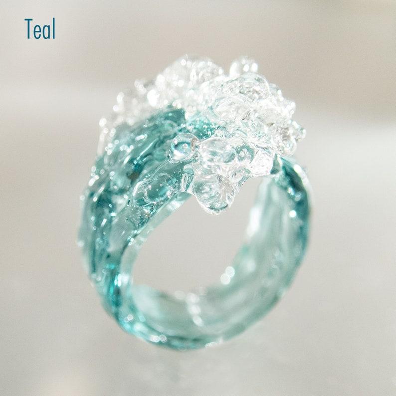 Sea Wave Silver Ring Ocean Mermaid Beach Ring