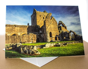 Sweetheart Abbey Photo Greetings Card (A5) Dumfries and Galloway Scotland Photograph
