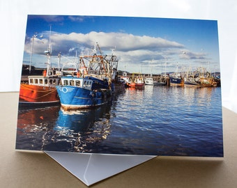 Stranraer Harbour Greetings Card (A5) Dumfries and Galloway Scotland Photograph