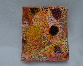 Coral embroidered journal